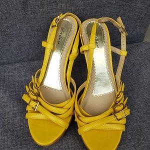 Slyluxe yellow heels